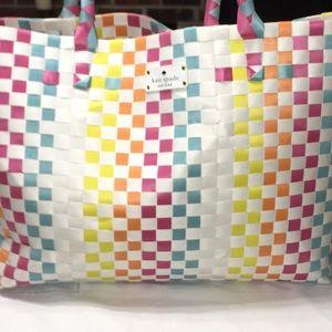 Kate Spade New York Basket Weave Lg Bag!